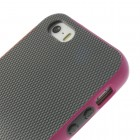 "Apple iPhone 5 (5s, SE) ""Walnutt"" cieta silikona pelēks apvalks apmales rozā krāsā"