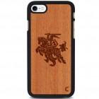 "Apple iPhone 7 (iPhone 8) ""Crafted Cover"" Vytis dabīga koka telefona apvalks"