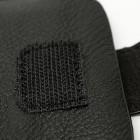 Apple iPhone 6 Plus universāls aizverams melns maciņš, ar kabatiņu kartem ielikt un iespēju piestiprināt pie siksnas (XL+ izmērs)