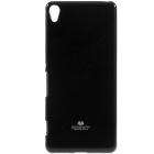 Sony Xperia XA Mercury melns cieta silikona (TPU) apvalks