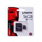 """Kingston"" MicroSD atmiņas karte 16 Gb, 10 klase ar SD adapteri"