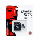"""Kingston"" MicroSD atmiņas karte 8 Gb, 10 klase ar SD adapteri"