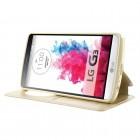 LG G3 D855 (D850, D851) Roar Noble ādas atvēramais zelta maciņš