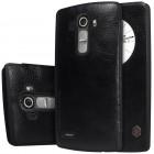 """Greznais """"Nillkin"""" Qin sērijas ādas atvērams melns LG G4 (H815) maciņš"""