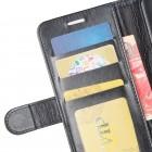 LG G7 ThinQ atvēramais ādas melns maciņš (maks)