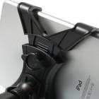 Melns universāls planšetdatora autoturētājs stiprināms pie atzveltnes (pie galvas atzveltņa kājiņam)