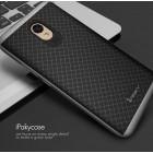 """Meizu m5 note """"IPAKY"""" cieta silikona (TPU) melns apvalks (apmales - pelekā krāsā)"""