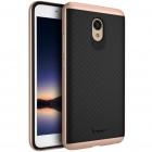 "Meizu m5 note ""IPAKY"" cieta silikona (TPU) melns apvalks (apmales - rozā krāsā)"