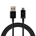 Micro usb melns vads 3 m.