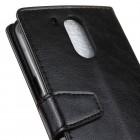 Motorola Moto G4, Moto G4 Plus atvēramais ādas melns maciņš, grāmata (maks)