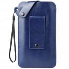 MQ universāla zila ieliktņa ādas - futrālis (XL izmērs)