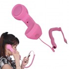 """""""MsPhone"""" anti-radiācijas retro stila klausule - roza"""
