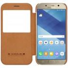 """Greznais """"Nillkin"""" Qin sērijas ādas atvērams brūns Samsung Galaxy A5 (2017) A520 maciņš"""