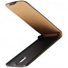 Nokia 6 klasisks ādas vertikāli atvēramais melns maciņš