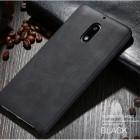 """""""X-Level"""" Vintage Classic Nokia 6 melns ādas apvalks"""