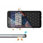 """OnePlus 3 (OnePlus Three) """"Carbon"""" cieta silikona (TPU) melns apvalks"""