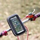 """OQSPORT"" melns universāls telefona futrālis velosipēdam (L)"
