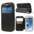 Samsung Galaxy Grand Neo (Lite) Roar Noble ādas atvēramais melns futrālis