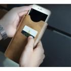 """""""Rock"""" Slim brūna telefona ieliktņa ādas telefona ieliktņa (XL izmērs)"""