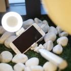 """""""Rock"""" Lightning Light teleskopiskais selfija balts statīvs-turētājs – monopod"""