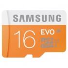 """""""Samsung"""" Evo MicroSD atmiņas karte 16 Gb, 10 klase ar SD adapteri"""