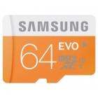 """""""Samsung"""" Evo MicroSD atmiņas karte 64 Gb, 10 klase ar SD adapteri"""