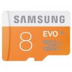 """""""Samsung"""" Evo MicroSD atmiņas karte 8 Gb, 10 klase ar SD adapteri"""