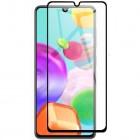"Samsung Galaxy A41 ""Rurihai"" Tempered Glass melns ekrāna aizsargstikls"