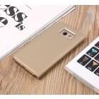 Samsung Galaxy A5 2017 (A520) plastmasas atvērams zelta ādas maciņš