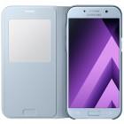 Samsung Galaxy A5 (2017) A520 oficiāls S View Cover atvērams gaiši zils ādas maciņš