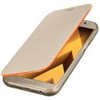 Samsung Galaxy A5 (2017) A520 oficiāls Neon Flip Cover EF-FA520 atvērams zelta ādas maciņš (maks)