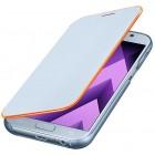 Samsung Galaxy A5 (2017) A520 oficiāls Neon Flip Cover EF-FA520 atvērams gaiši zils ādas maciņš (maks)