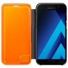 Samsung Galaxy A5 (2017) A520 oficiāls Neon Flip Cover EF-FA520 atvērams melns ādas maciņš (maks)