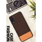 "Samsung Galaxy A50 (A505F) ""Fashion"" gaiši brūns cieta silikona apvalks"