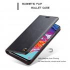 Samsung Galaxy A70 (A705F) CaseMe solīds atvēramais ādas melns maciņš - maks