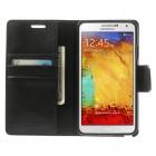 Samsung Galaxy Note 3 Neo Mercury Sonata atvērams melns ādas maciņš