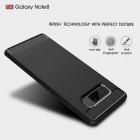 "Samsung Galaxy Note 8 (N950F) ""Carbon"" cieta silikona (TPU) melns apvalks"