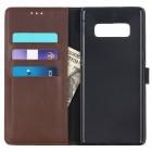 Samsung Galaxy Note 8 (N950F) atvēramais ādas tumši brūns retro maciņš (maks)