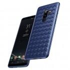 "Samsung Galaxy S9 (G960) ""Baseus"" Weaving zils cieta silikona apvalks"