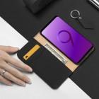 """Samsung Galaxy S9 (G960) """"Dux Ducis"""" Wish sērijas melns ādas atvērams maciņš"""