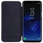 """Greznais """"Nillkin"""" Qin sērijas ādas atvērams melns Samsung Galaxy S9 (G960) maciņš"""