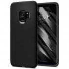 "Samsung Galaxy S9 (G960) ""Spigen"" Liquid Air melns cieta silikona apvalks"
