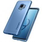 """Samsung Galaxy S9 (G960) """"Spigen"""" Thin Fit 360 zils futrālis + ekrāna aizsargstikls"""