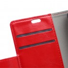 Samsung Galaxy Trend 2 Lite (G318) atvēramais ādas sarkans maciņš (maks)