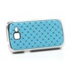 Samsung Galaxy Trend II S7570 elegants gaiši zils futrālis ar spīduļiem