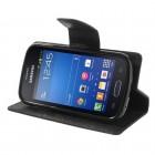 Samsung Galaxy Trend Lite (S7390) Mercury atvērams melns maciņš (maks)