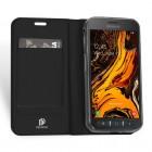 """Samsung Galaxy Xcover 4 / 4S (G390, G398) """"Dux Ducis"""" Skin sērijas melns ādas atvērams maciņš"""
