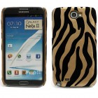 Zebrains melns / zelts plastmasas Samsung Galaxy Note 2 N7100 apvalks