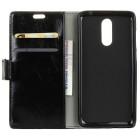 Sony Xperia 1 (XZ4) atvēramais ādas melns maciņš (maks)