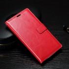 Sony Xperia XA atvēramais ādas sarkans maciņš (maks)